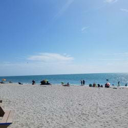 A picture of beach goers enjoying a Typical sunny beach day on Captiva Island