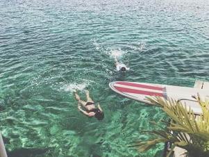 the water looks amazing in Isla Colon.