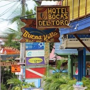 The signage is so Bocas del Toro.