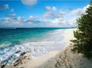 One of the most beautiful beaches iis in Leeward Islands.