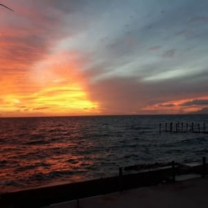 Post hurricane sunset
