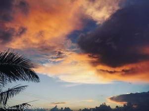 The orange and blue skies in Statia is beautiful