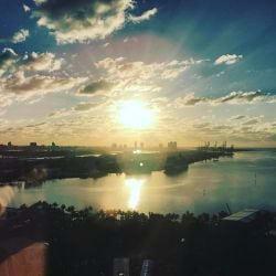 A photo of the Sunrise over Miami Beach Florida.