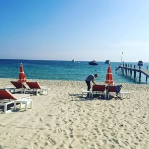 An amazing day in Tahiti Beach.