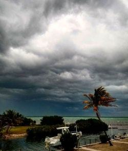 A picture of a Thunder Storm rolling in Big Pine and the Lower Keys.