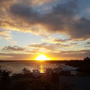 A stunning sunset in Abaco Bahamas.