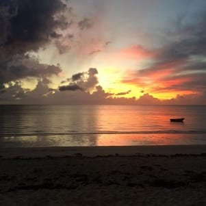 Beautiful sunrise in Andros.