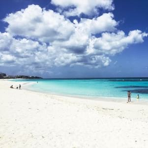 Redefining the color blue on Shoal Bay Beach Anguilla