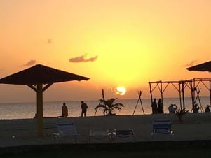 Sunsets in Antigua never fail to amaze us