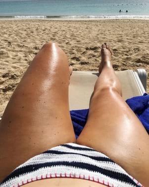 Unwinding at the beach in Antigua