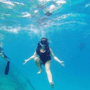 Underwater fun in Barbados.