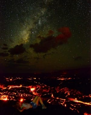 Taking a nap with Pele, the Hawaiian Fire Goddess on the Big Island ofHawaii.