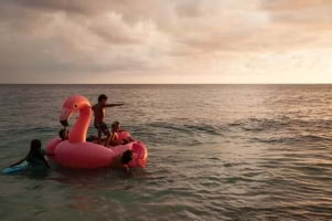 Kids having fun on the Big island of Hawaii.