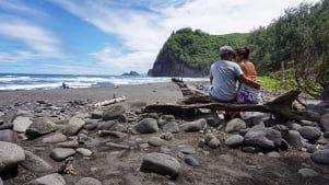 Lovely couple on the Big island of Hawaii.