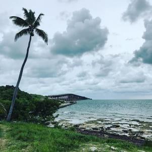 Satin blue sky in the Lower Florida Keys