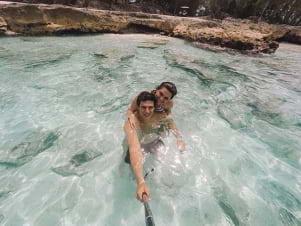 The water looks amazing in Binini.