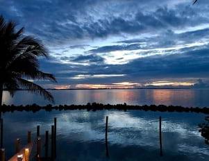A blue dawn in Binini.