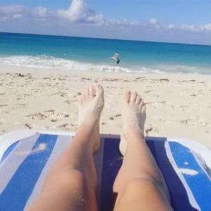 The white sand beach in Binini Island looks amazing.