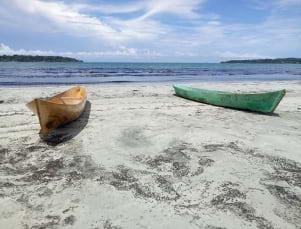 Amazing beach phtoo in Bocas del Toro.