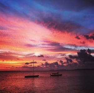 A dreamy sunset in Bonaire