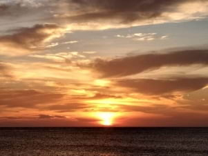 Awesome sunset in Bonaire