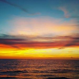 Golden glow sunset on Captiva Island Florida