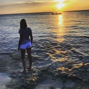 Amazing sunset in Cozumel
