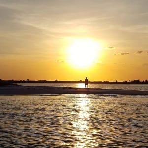 Beautiful sunset in Crooked Island