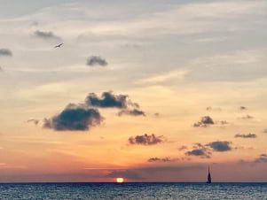 Incredible sunset in Curacao