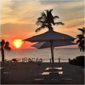 Wonderful sunset in Curacao