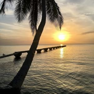 Picture perfect sunset in Dominica
