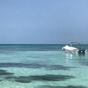 The turquoise water is beautiful