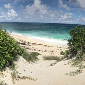 Pathway to paradise in Elbow Cay Bahamas