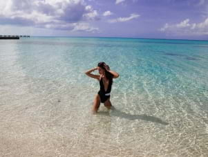 The blue water looks amazing in Eleuthera.