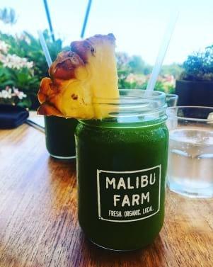 Enjoying a refreshing pineapple-kale goodness on the Island of Lanai.
