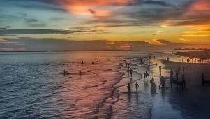 Sunset worship on Fort Myers Beach Florida