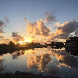 Perfect glass sunrise in Grand Cayman!