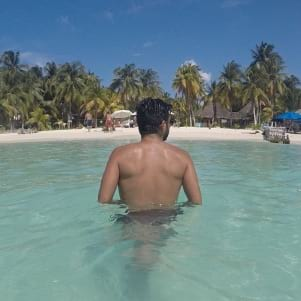 Relaxing at Isla Mujeres