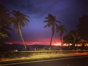 Beautiful night picture in isla Mujeres