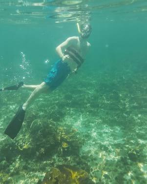Perfect underwater shot in Isla Mujeres