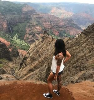 Girl taking in an awesome view in Kauai!