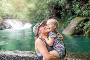 Pure Joy for mother and daughter on Kauai Hawaii