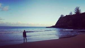 Sunrise on the beach in Kauai Hawaii
