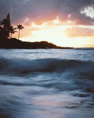 Beautiful waves in Kauia.