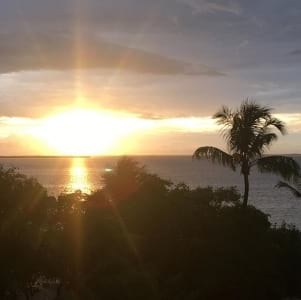 End of the day in Key Largo Florida Keys