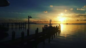 Beautiful sunset in Keywest