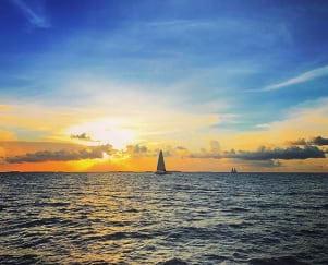 Beautiful sunset in Key West