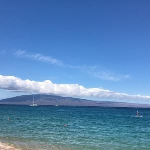 Lanai under cloud cover in view on a perfect Hawaiian day!