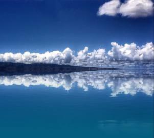 Lanai and a very calm ocean