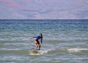 Learning to surf in Maui Hawaii